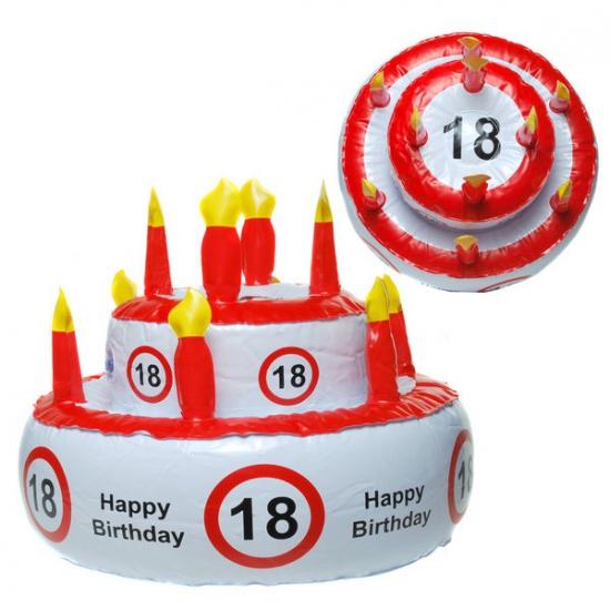 Opblaas Verjaardagstaart Hoed 18 Jaar kopen
