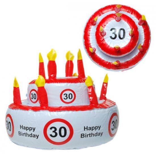 Opblaas Verjaardagstaart Hoed 30 Jaar kopen