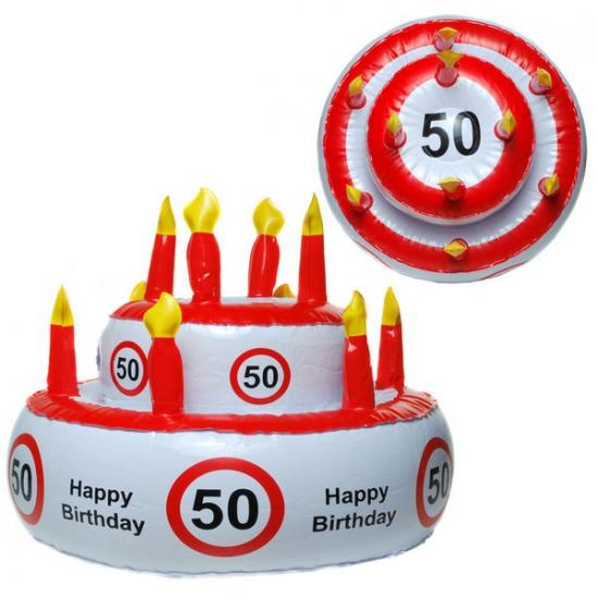 Opblaas Verjaardagstaart Hoed 50 Jaar kopen