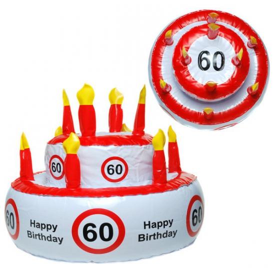 Opblaas Verjaardagstaart Hoed 60 Jaar kopen